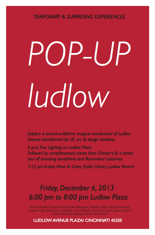 Pop Up Holiday Windows @ Ludlow Avenue Business District | Cincinnati | Ohio | United States